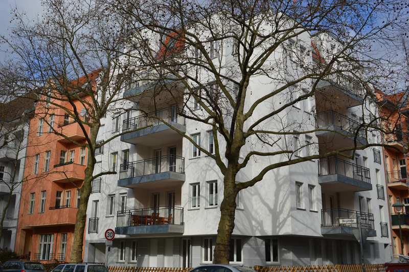 Ansicht des Steuerbüros in der Ecke Bergstraße / Schönhauser Straße